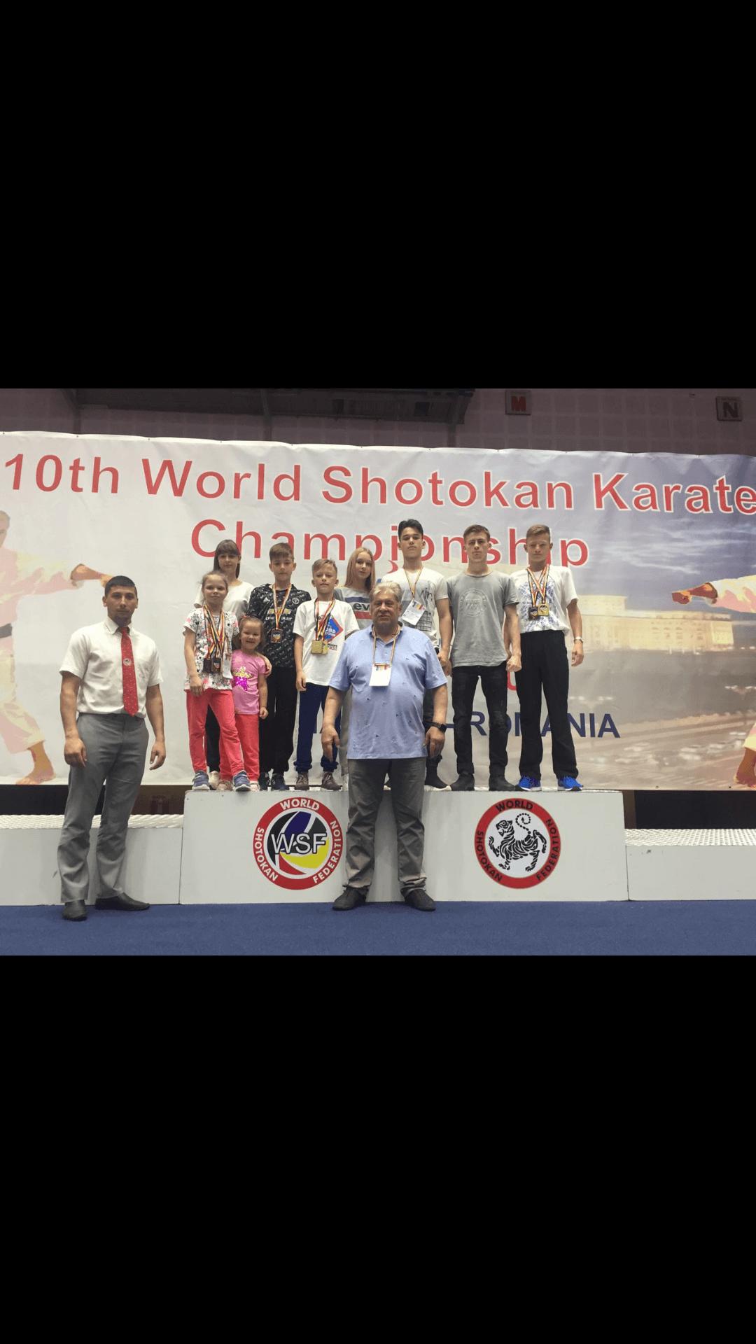 Наши на Чемпионате Мира по Шотокан Каратэ.